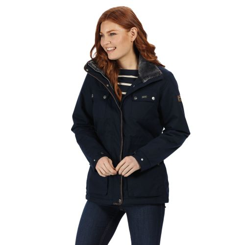 Women's Lizbeth Waterproof Insulated Jacket With Concealed Hood Navy